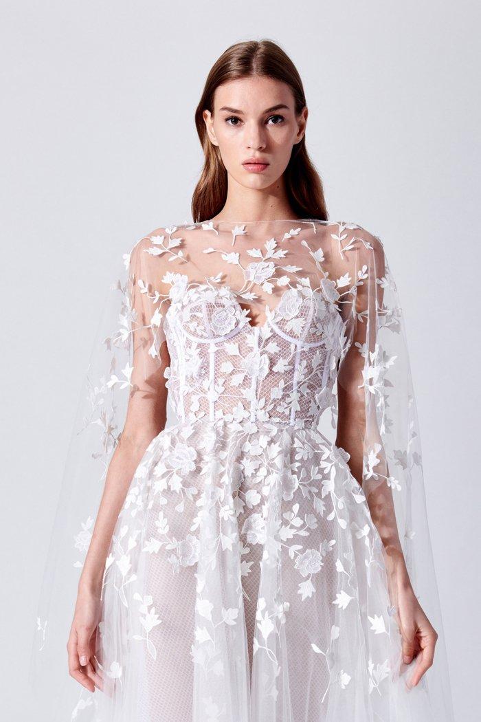 wähle echt viele modisch Details für Oscar de la Renta Brautkleid Kollektion 2019   Hochzeit um 3