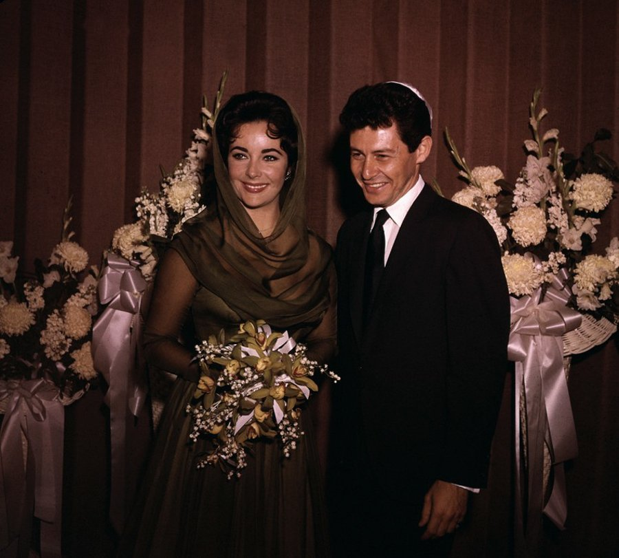 Elizabeth Taylors Hochzeitskleider - Hochzeit mit Eddie Fisher